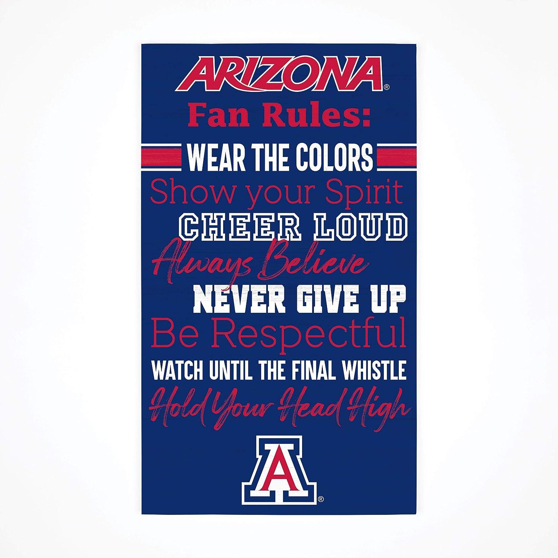 P. Graham Dunn Collegiate Fan Rules University of Arizona NCAA 24 x 14 Birch Wood Pallet Décor Sign