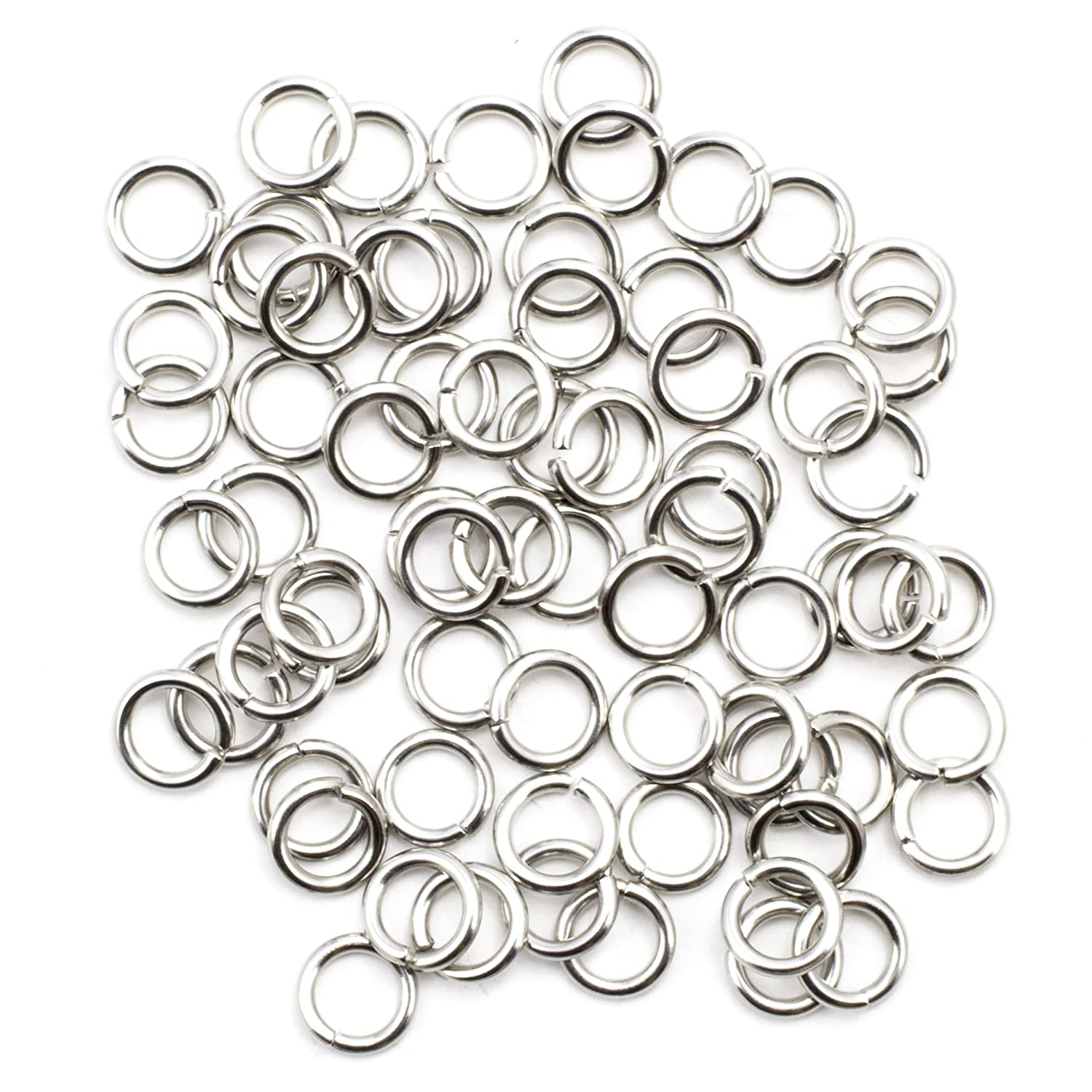 Silver 4mm Cousin 2950509 70 Piece Stainless Steel Open Jump Rings