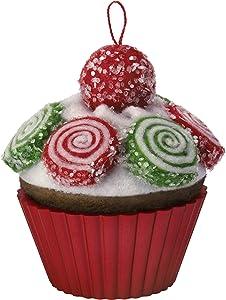 Hallmark Keepsake Ornament 2019 Year Dated Christmas Cupcakes Pinwheel Sweetness Fabric