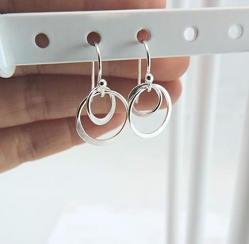 Nickel Free Creative Circle Earrings,GoldenSilver Circle Stud Earrings,Circle Earring StudPosts,Circle Geometry Earrings ZEN232
