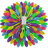 B-Kind Party Pack 100 Count Cutlery Thick Strong and Durable Medium Weight Disposable Spoons for Camping, Picnics, Parties, and Wedding (Multi)