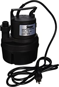 Simer 11652 1/6 HP Submersible Utility Pump