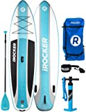 """iROCKER CRUISER Inflatable Stand Up Paddle Board 10'6 Long 33"""" Wide 6"""" Thick SUP Package"""