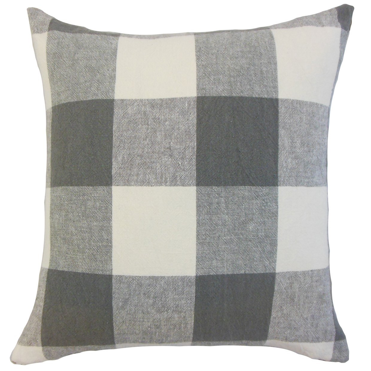 The Pillow Collection Amory Plaid Bedding Sham Coal Standard//20 x 26