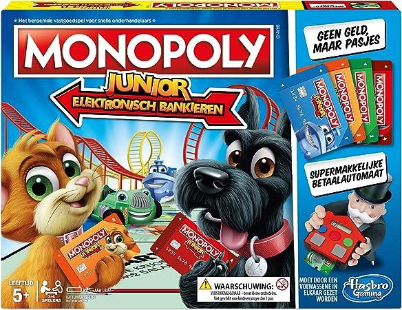 Hasbro Monopoly Junior Electronic Banking Niños Simulación económica - Juego de Tablero (Simulación económica, Niños, Niño/niña, 5 año(s), AAA, 1,5 V): Amazon.es: Juguetes y juegos