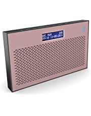 Majority Histon II DAB/DAB+ Digital & FM Portable Radio, Dual Alarm Clock, Battery Portable or Mains Powered (Rose)