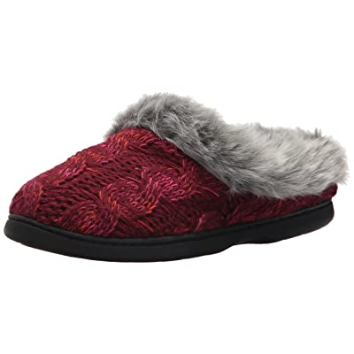 Amazon.com | Dearfoams Women's Cable Knit Clog with Space-Dye | Slippers