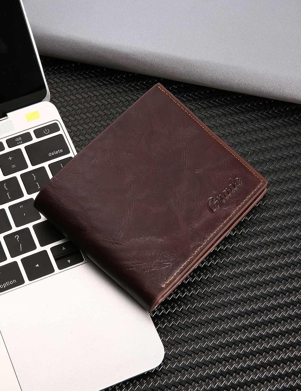 Legros8 Men Fashion Letter Print Thin Short Bifold Open Wallets Wallets