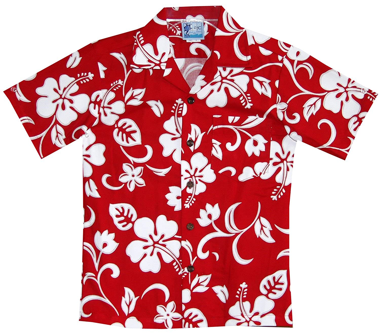 RJC Boys Classic Hibiscus Hawaiian Shirt