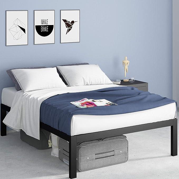 Zinus Lorrick Metal Platform Bed Frame Mattress Foundation Easy Bolt Free Assembly Twin Furniture Decor Amazon Com