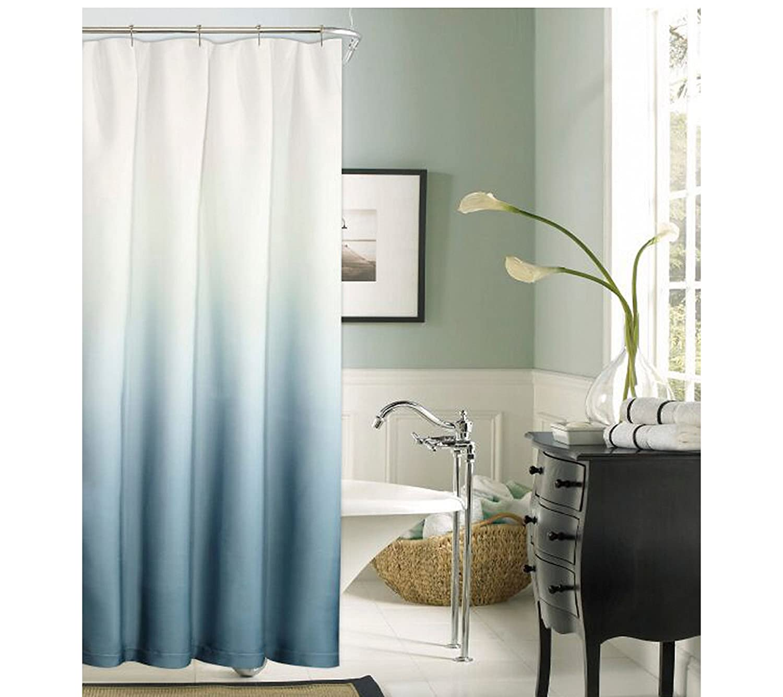 Amazon Dainty Home Shades Shower Curtain Blue Kitchen