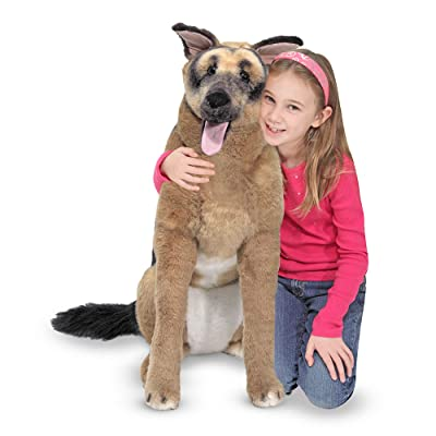 Melissa & Doug Giant German Shepherd - Lifelike Stuffed Animal Dog (over 2 feet tall): Melissa & Doug: Toys & Games