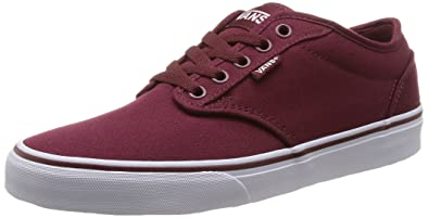 39fec5dbb7 Vans Men s Shoes Atwood Canvas Burgundy Windsor Wine White Skate Sneakers  ...