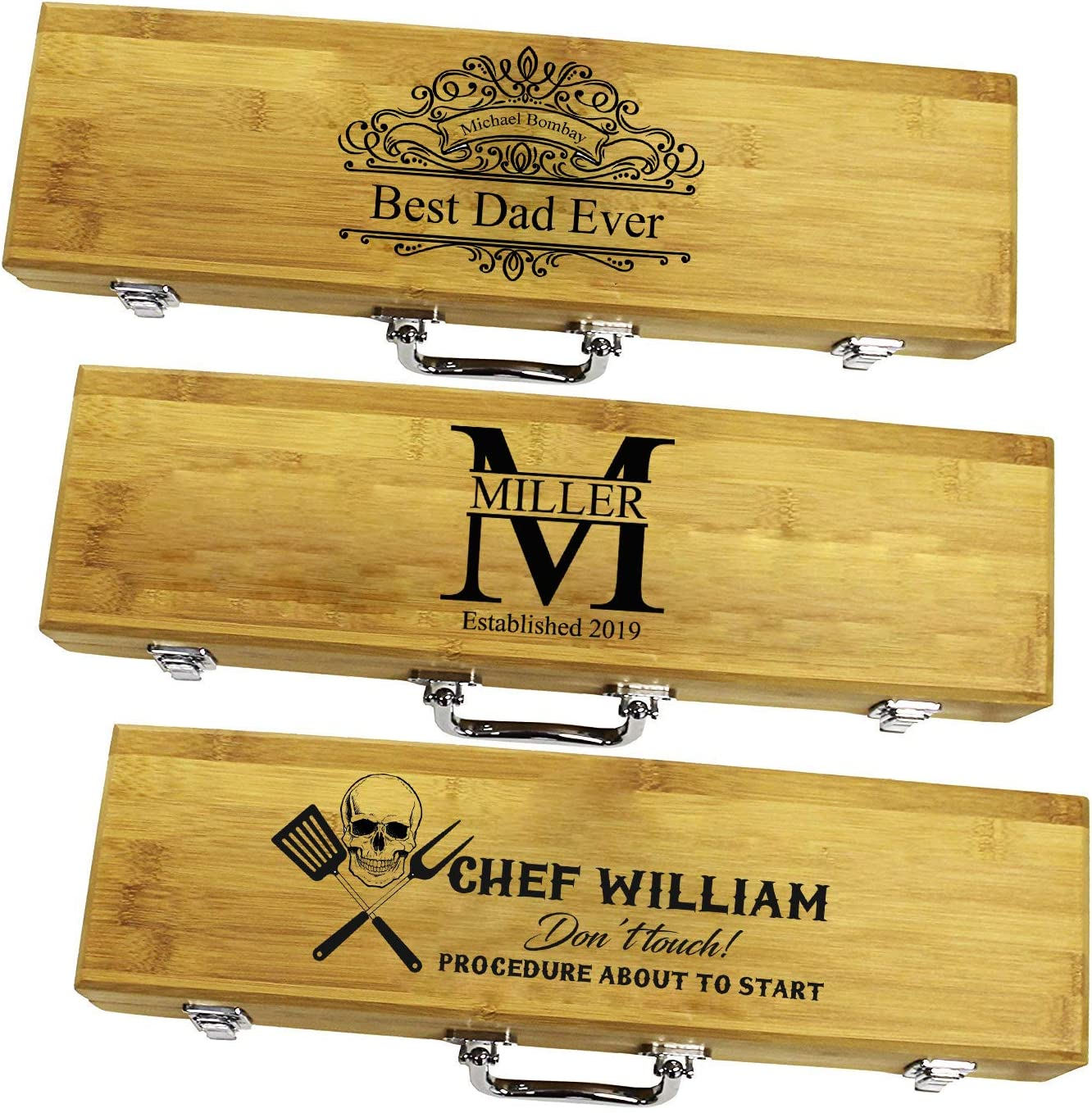 Personalized Grill Set   BBQ Engrave Set