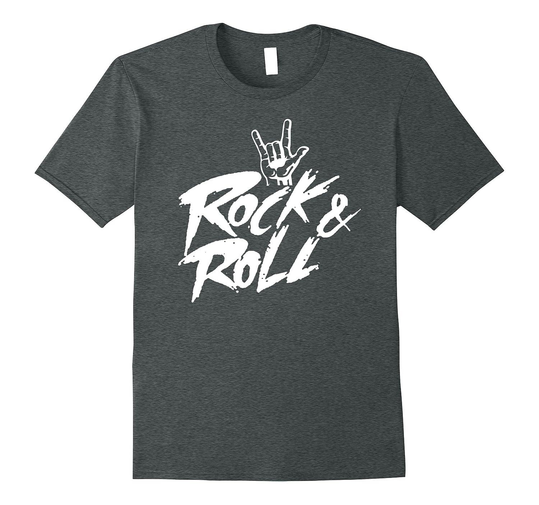 Rock n Roll T Shirts Rockstar Rock Band TShirt Rock On Sign-FL