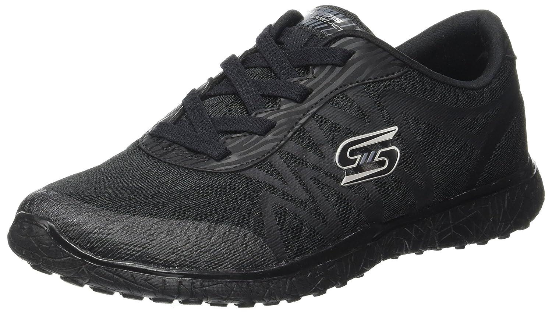 Skechers Damen Microburst-Showdown Laufschuhe, Gray/Light Blue  365 EU|Schwarz (Black)
