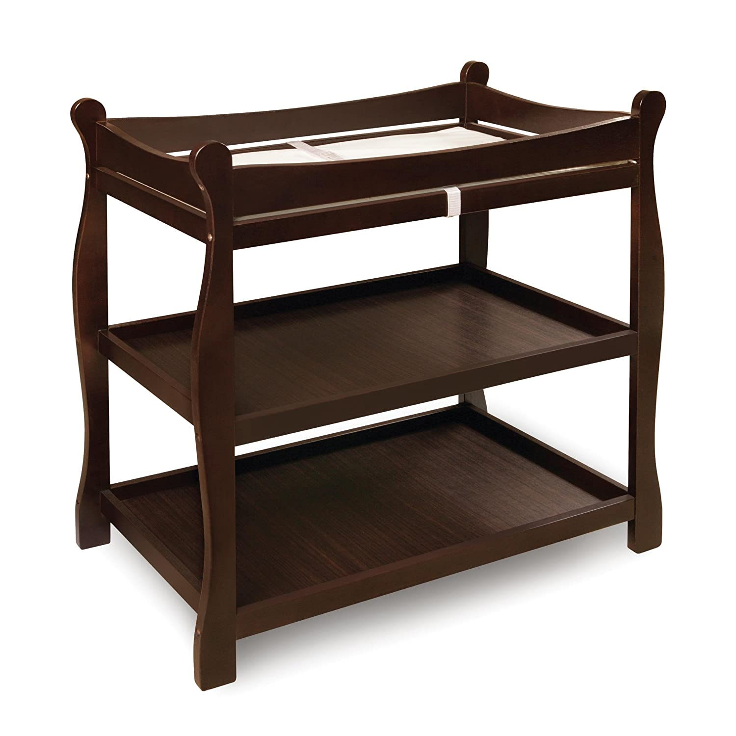 Amazon.com : Badger Basket Sleigh Style Changing Table, Espresso : Baby