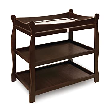 Gentil Badger Basket Sleigh Style Changing Table, Espresso