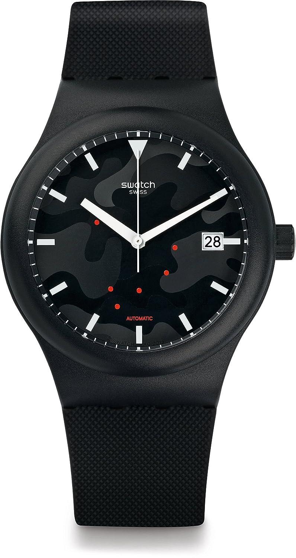 Swatch Reloj Digital para Hombre de Automático con Correa en Silicona SUTA401
