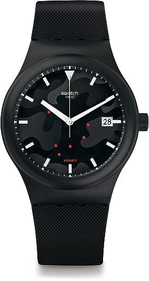 Swatch Reloj Digital para Hombre de Automático con Correa en Silicona SUTA401: Amazon.es: Relojes