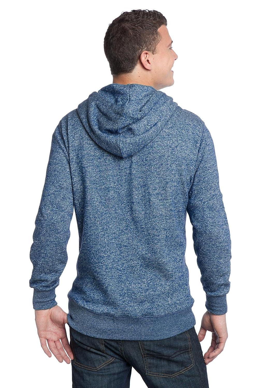 District Mens Young Marled Fleece Full Zip Hoodie