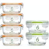 Sage Spoonfuls Contenedores de almacenamiento de alimentos para bebés, de vidrio resistente, Juego de almacenamiento…