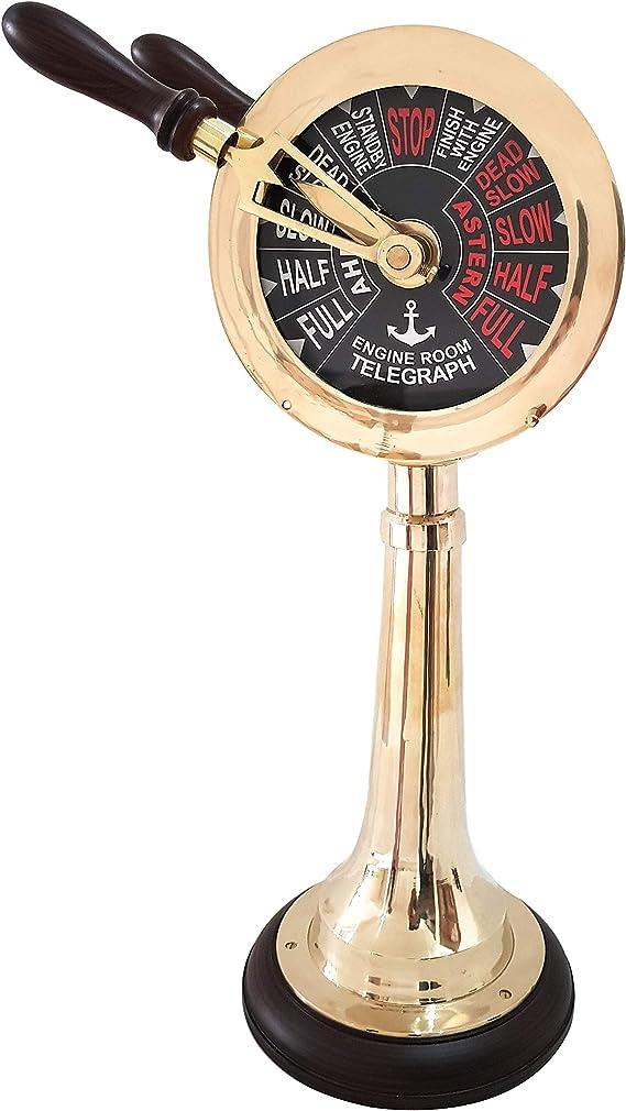 Ship Engine Order Telegraph Nautical Brass Decorative Collectible 43 Inch