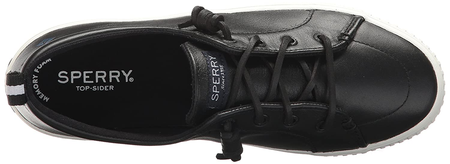 Sperry Top-Sider Women's Crest Vibe Creeper Leather Sneaker B06XV36BYJ 12 M US|Black
