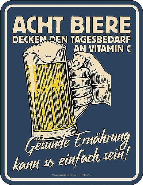 Rahmenlos Cartel de chapa Original para los bebedores de ...