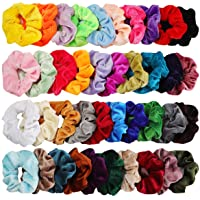 KECUCO 40 Colors Hair Scrunchies Velvet Elastic Hair Bands Scrunchy Hair Ties Ropes 40 Pack Scrunchies for Women or Girls Hair Accessories - 40 Assorted Colors Scrunchies (Velvet 40pcs)