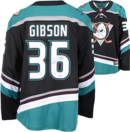 huge discount 55809 b0174 John Gibson Anaheim Ducks Autographed Alternate Fanatics ...