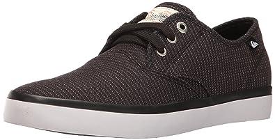 Quiksilver Men's Shorebreak Deluxe Laceable Slip-On Shoe, Black/Grey/White,