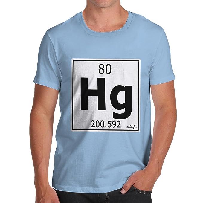 Amazon Twisted Envy Mens Periodic Table Element Hg Mercury T
