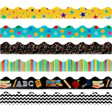 Juvale Classroom Bulletin Board Borders, 6 Designs (36 Inches, 6 Pack)