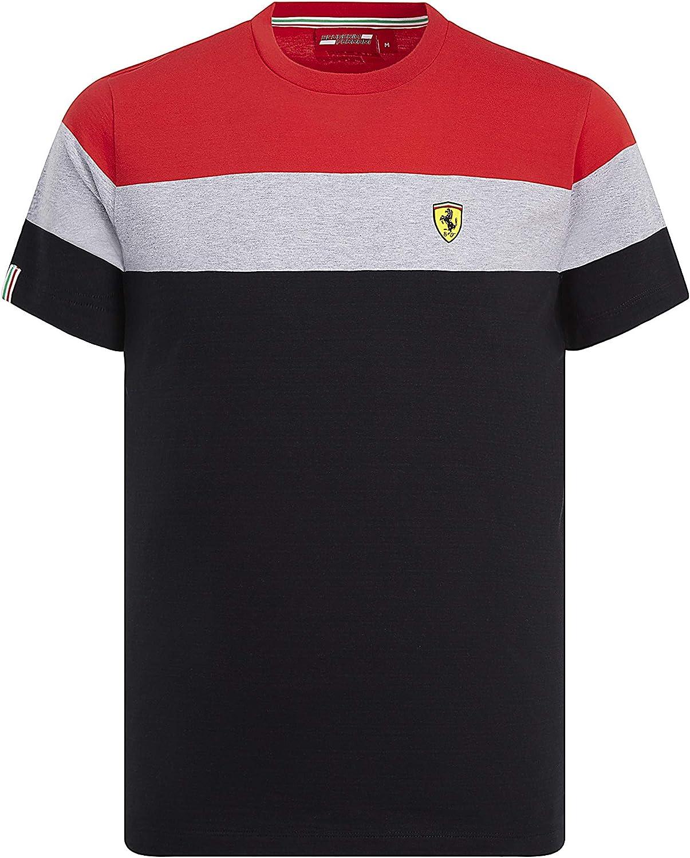 Camiseta de Manga Corta para Hombre de la Marca Sports Merchandising B.V. Scuderia Ferrari F1, S: Amazon.es: Deportes y aire libre