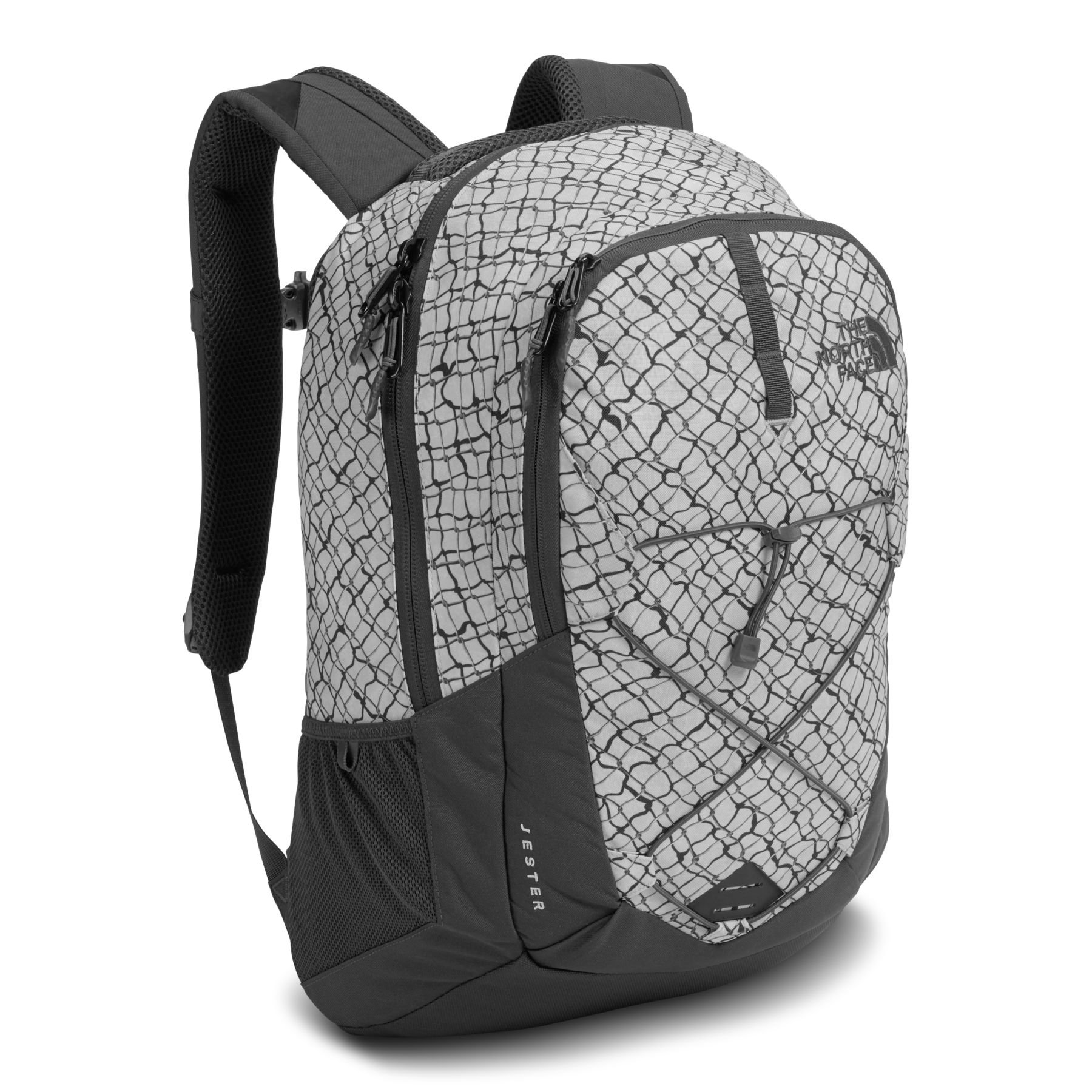 The North Face Jester Backpack, Lunar Ice Grey Chainlink Print by The North Face