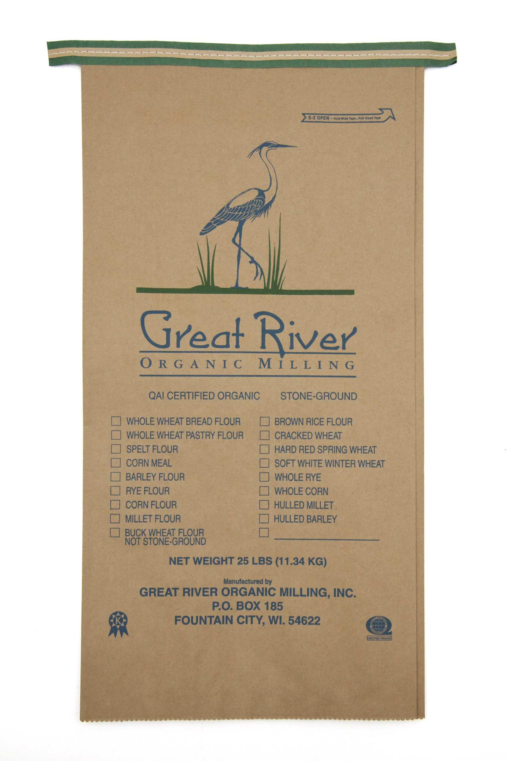 Great River Organic Milling Organic Oatmeal Bread Flour Blend, 25-pounds (Pack of1)