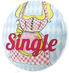 Single Madl Button - Lebkuchenherz Madl Anstecker Bayern JGA Junggesellinnenabschied 3,8 cm