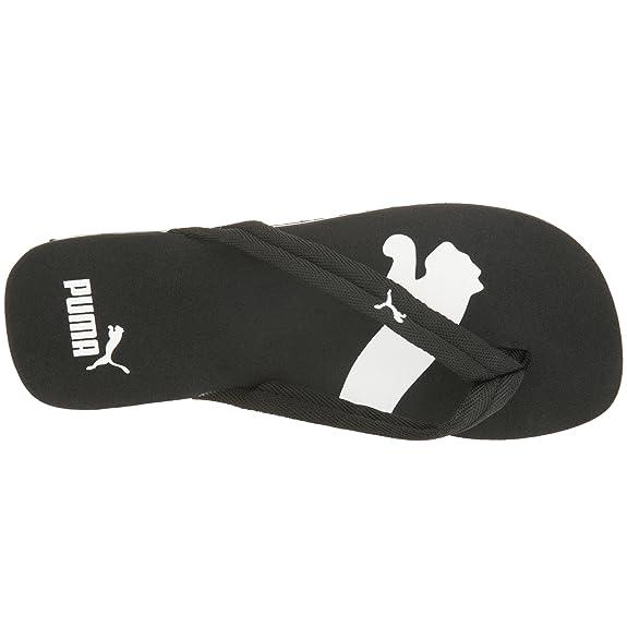 herren damen sandalen flip flops puma basic cat logo schwarz