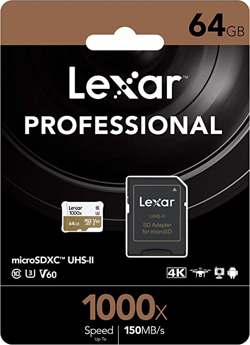 Lexar Professional 1000x 64GB microSDXC UHS-II Card