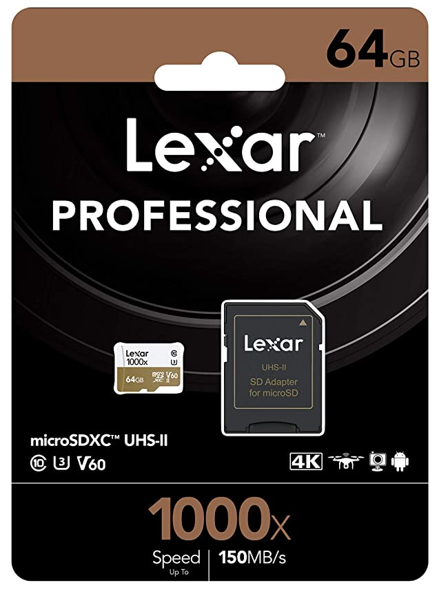 Lexar lsdmi64gcbnl1000r 64 GB microSDXC UHS-II Memoria Flash ...