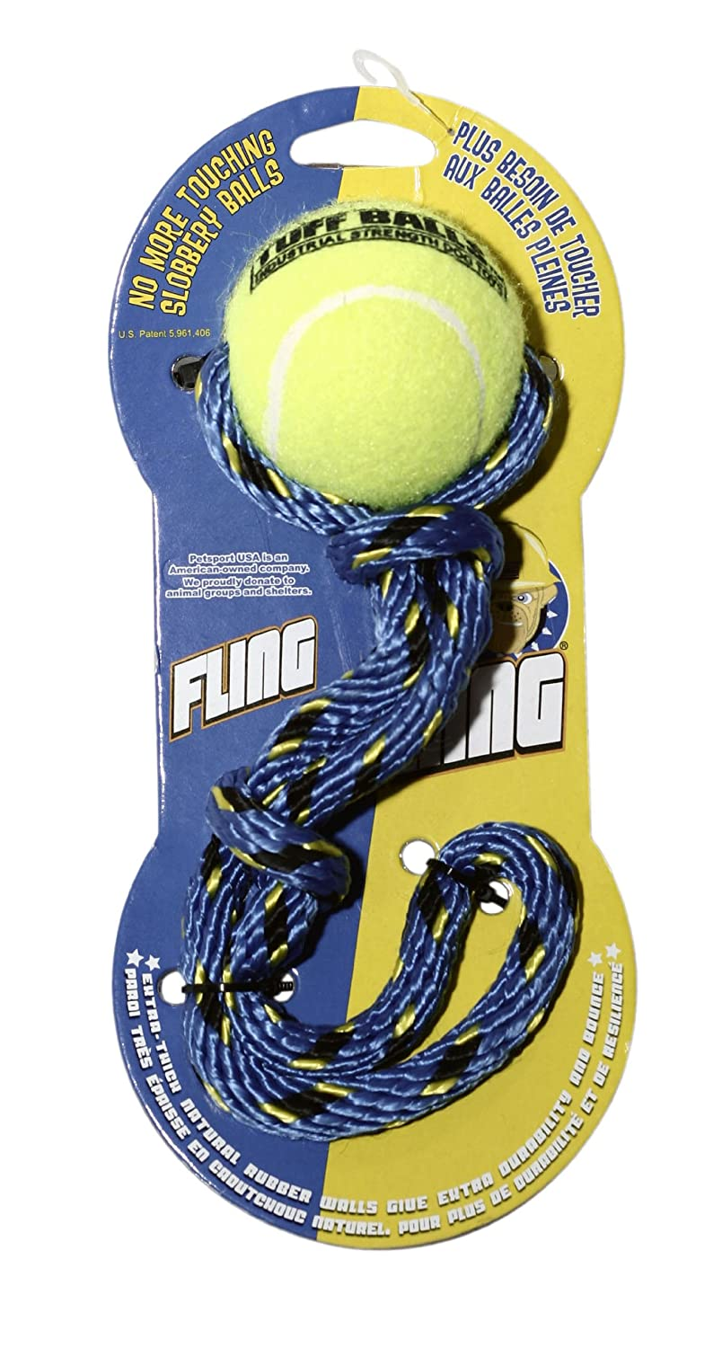 Pet Supplies : Pet Toys : Petsport USA Fling Thing Tennis Ball With Rope, Colors Vary, 10-Pack : Amazon.com