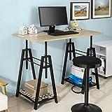 SoBuy FWT32-N, Trestle Table Desk Height Adjustable, Home Office Table Desk Computer Workstation