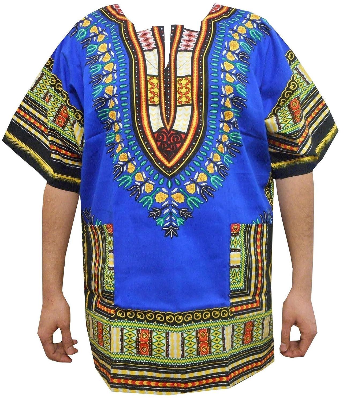 553b986bf03 Amazon.com  Decoraapparel Men Dashiki Shirt African Women Blouse Hippie  Top  Clothing
