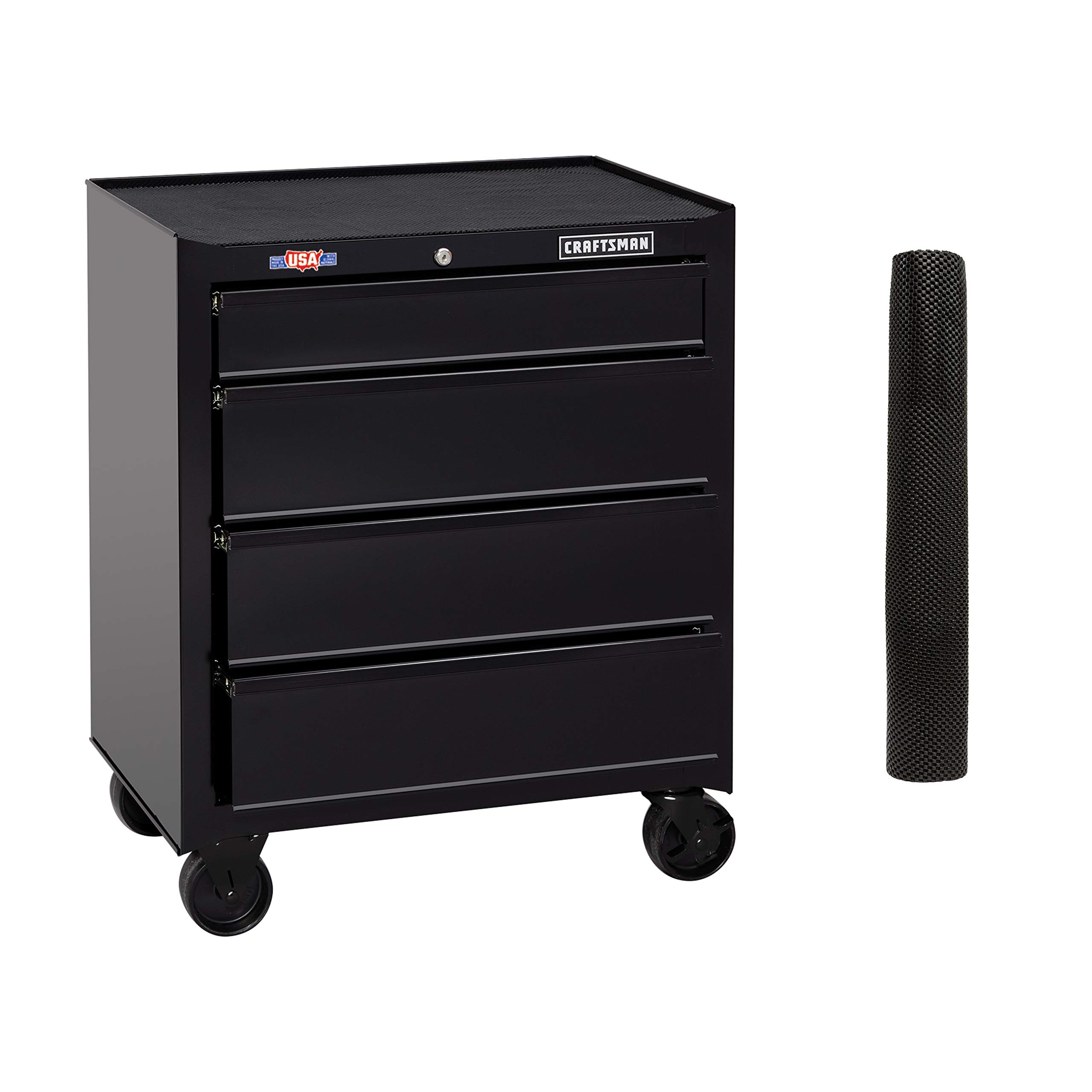 CRAFTSMAN Tool Cabinet, 26-Inch, 4 Drawer, Black (CMST82765BK) by Craftsman