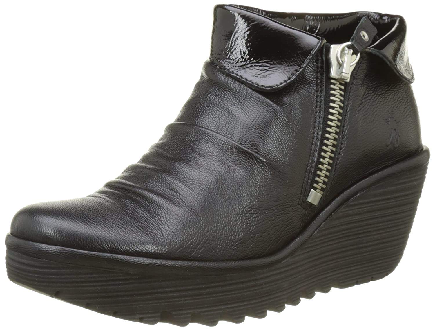 FLY London Women's (9-9.5 Yoxi755fly Platform B06WWNYM6F 40 M EU (9-9.5 Women's US)|Black Mousse/Luxor 4b5e72