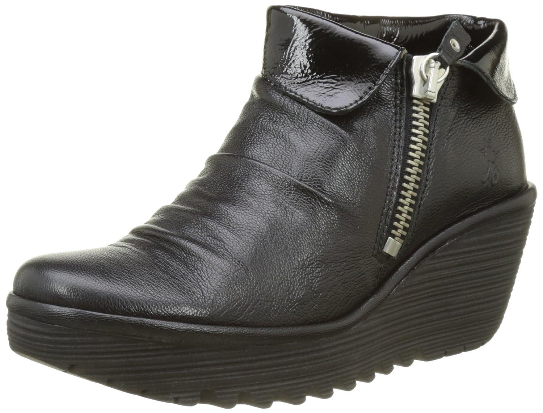 - FLY London Damen Yoxi755fly Stiefel, Schwarz (schwarz), (schwarz), 38 EU  modisch