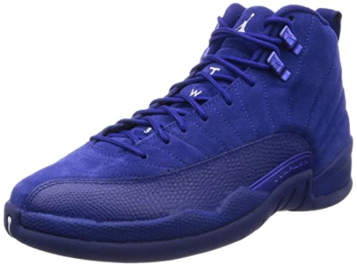 d24b8bee1710 Nike Mens Air Jordan 12 Retro Deep Royal Blue Suede Size 9  Amazon.ca  Shoes    Handbags
