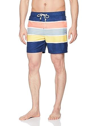 efbc3aeef0 Amazon.com: Original Penguin Men's Colorblock Elastic Waist Swim Trunk:  Clothing