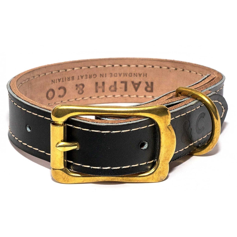 Black X-Large Black X-Large Ralph & Co Leather Dog Collar (X-Large) (Black)